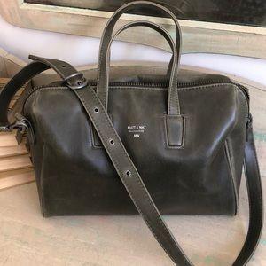 Matt & Nat Olive Green Bag Purse with handles